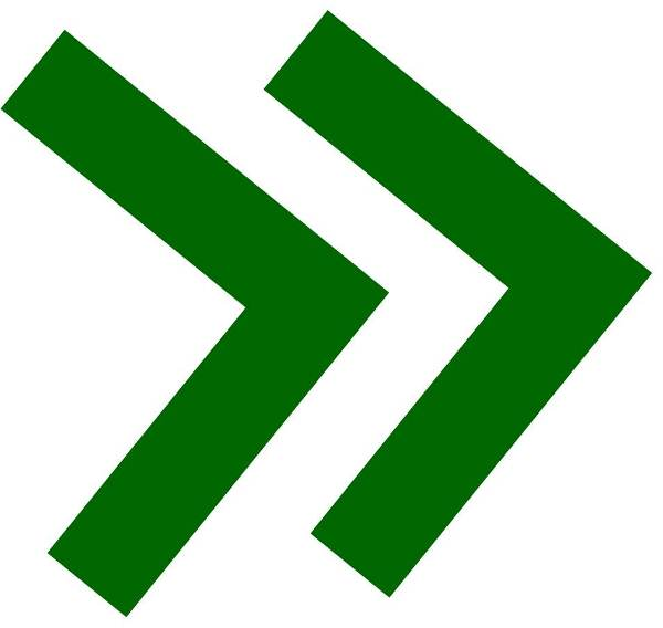 double green arrows